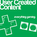 The logo of te UserCreatedContent podcast