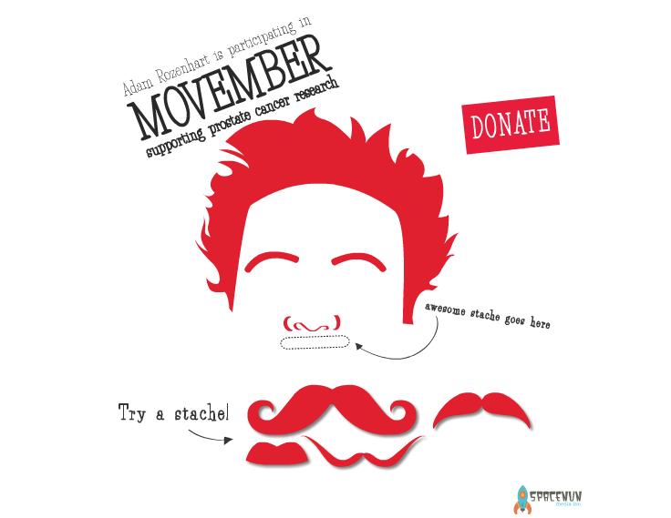 A screenshot of the mighty mustache website